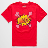 Neff Kaboom Boys T-Shirt Red  In Sizes