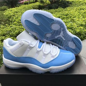 69210432200 Air Jordan Retro 11 Xi University Blue Low Unc Men Women Basketb