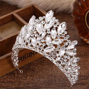 Cool Joyme New Baroque Luxury Bridal Accessories Full Crystal Big Crown Wedding Party Prom King Queen Tiaras and Crowns Hair JewelryAT_93_12