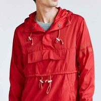 Profound Aesthetic Front Pocket Pullover Anorak Jacket- Red