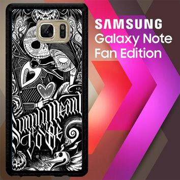 Jack And Sally Muertitos The Nightmare Before Christmas F0874 Samsung Galaxy Note FE Fan Edition Case