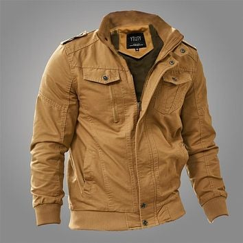 Autumn Military Flight bomber jacket uniform Cotton Large Size Spring Coat