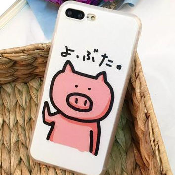 Lovely Pig phone case for iphone 7 7 plus 5 5s SE 6 6s 6plus 6s plus + Nice gift box! -LJ-005