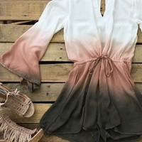 romper with cut outs and drawstring