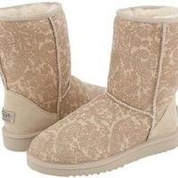 Sand Classic Paisley UGG Boots [5831-Sand] - $123.89 :