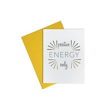 Card-  Positive Energy Only
