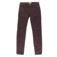 Roxy Womens Ultra-Low Rise Polka Dot Colored Skinny Jeans