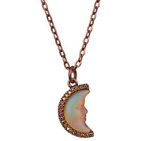 NEW KIRKS FOLLY SEAVIEW CRESCENT MOON SHADOW NECKLACE CT/ FAIRY BERRY RED