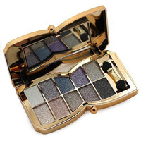 and Shimmer Eyeshadow Makeup Palette Super Flash Sparkling Professional 10 Colors Diamond Bright Eye Shadow Set,No.3