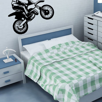 Vinyl Wall Decal Sticker Dirt Bike #OS_MB668