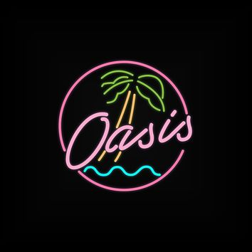 'Oasis Neon Lights Logo' by poisondesign
