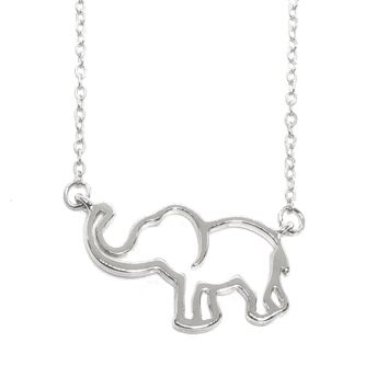 Trunk Up Lucky Elephant Necklace