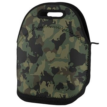 Cat Camo Catmouflage Lunch Tote Bag