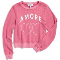 Girl's Wildfox 'Amore - Baggy Beach Jumper' Graphic Sweatshirt,
