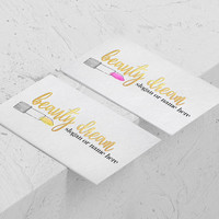 Beauty Logo Design | Beauty Blog Design | Fashion Blog Design | Style Blog Design | Lipstick Logo Design | Foil Logo Design | Foil Letters