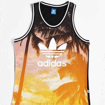 adidas Originals Palm Print Mesh Tank Top