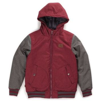 Vans Boys Rutherford Mountain Edition Jacket (Gravel/Wine)
