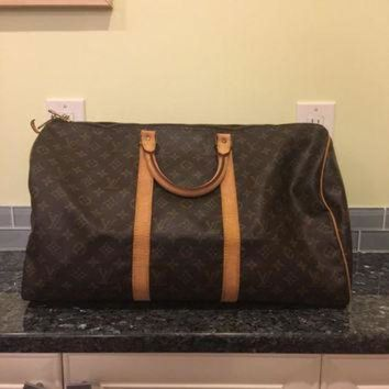 PEAPYD9 Vintage Louis Vuitton keepall 50 duffle travel monogram bag