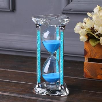 60 minute Crystal Glass Diamond sand clock timer valentines day decorative 1 hour hourglass craft gift For home table decoration