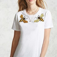 Embroidered Bee Tee
