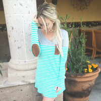 MINT DELIGHT STRIPED TUNIC