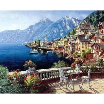 Seascape DIY Oil Painting By Numbers Kit - DIY Art Home Decor