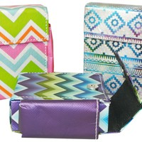 Set 3 Flip Top Box Cigarette Cases in Fun Prints Fits Regulars