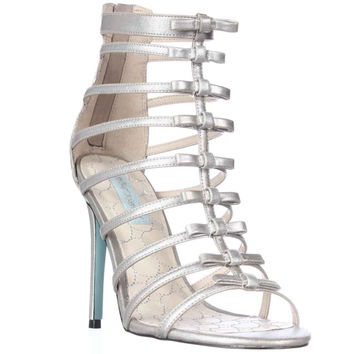 Blue by Betsey Johnson SB-Tie T-Strap Bows Dress Sandals - Silver