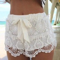 Carefree Comfort Lace Shorts