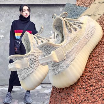 Coconut 350v2 new women's shoes are full of stars, angels, 3M reflective inss, all kinds of leisure couples'sneakers