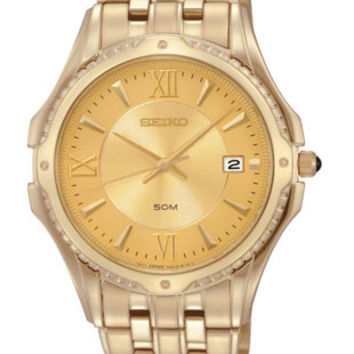 Seiko Mens LeGrand Sport Watch - All Gold Tone - Date - 50 Meters