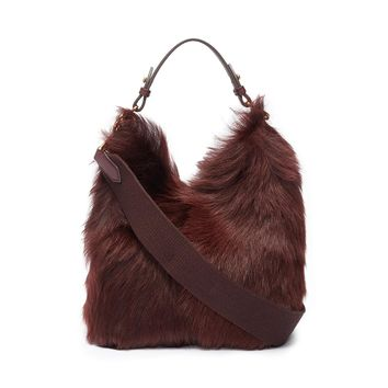 Anya Hindmarch | 'Build A Bag' mini shearling and leather crossbody bag | Women | Lane Crawford - Shop Designer Brands Online