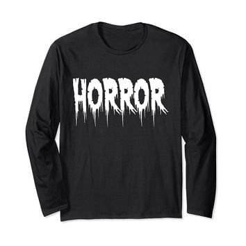 Horror Long Sleeve T-Shirt Movie Cinema Goth Heavy Metal Emo