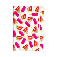 "Sreetama Ray ""Strawberry & Watermelon"" Pink Red Everything Notebook"