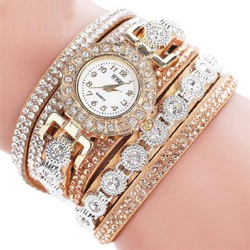 Casual Analog Quartz  Rhinestone Watch Bracelet