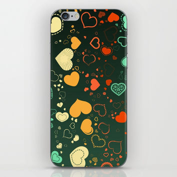 Elegant Hearts iPhone Skin by kasseggs
