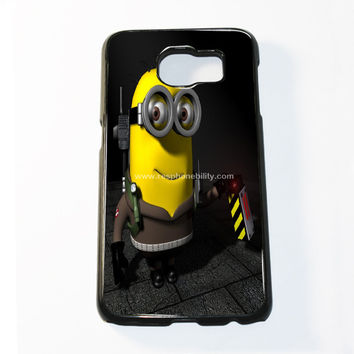 Funny Ghostbuster Minion Samsung Galaxy S6 and S6 Edge Case