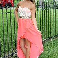 Egyptian Lover Dress - Neon Coral