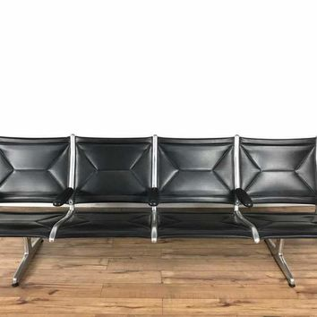 Charles and Ray Eames Tandem Sling Airport Bench by Herman Miller