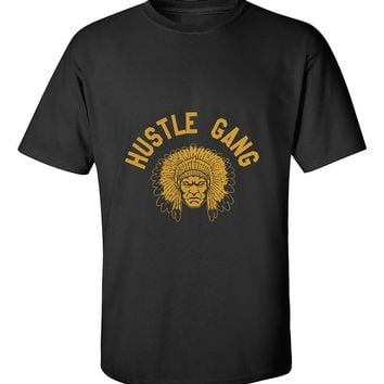 Hustle Gang headdressed Face front T-Shirt