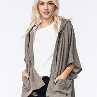 Billabong Shining Down Womens Poncho Sweater Heather  In Sizes