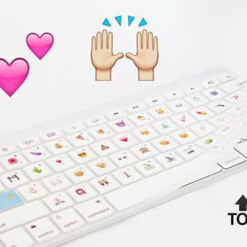 "The Emoji Keyboard - Silicone Keyboard Cover + Software - MacBook Pro 13"", 15"" - MacBook Air 13"" - Apple Wireless Keyboard"