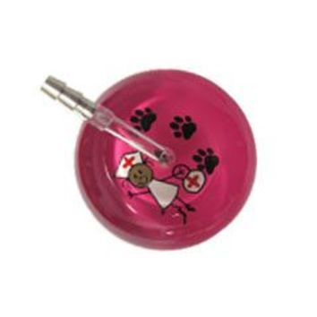 UltraScope Single Stethoscope Stick Nurse Hot Pink with Paw Print