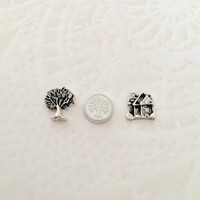 Floating charms  Family tree and House