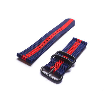 Smart Watch Strap PVD Navy and Red