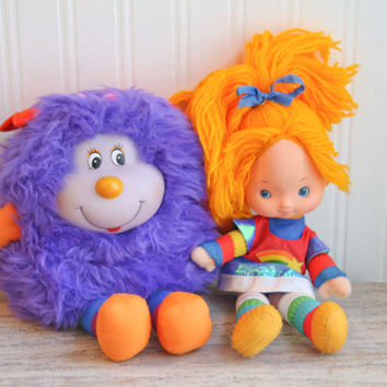 Rainbow Brite, Purple Sprite, 1980s Toy, Rainbow Brite Doll, Purple Girl Sprite, Vintage Dolls, Vintage Plush, 1983, Bright Colors, Girls