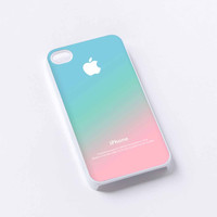 Pastel Ombre Pink Aqua Apple Logo Gradient iPhone 4/4S, 5/5S, 5C,6,6plus,and Samsung s3,s4,s5,s6