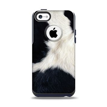 The Real Cowhide Texture Apple iPhone 5c Otterbox Commuter Case Skin Set