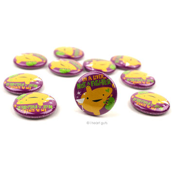 *NEW* - I'm a Liver Not a Fighter Buttons - Set of 10