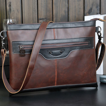 retro business leather bag